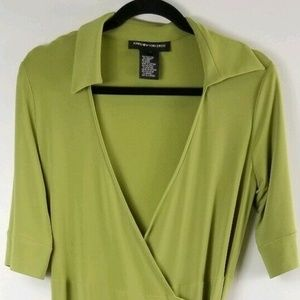Jones New York Dress Size 8 Green Stretch Dress